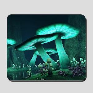 Luminous Mushrooms Mousepad