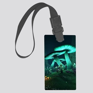 Luminous Mushrooms Large Luggage Tag