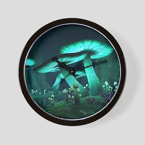 Luminous Mushrooms Wall Clock