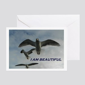 I Am Beautiful Greeting Cards