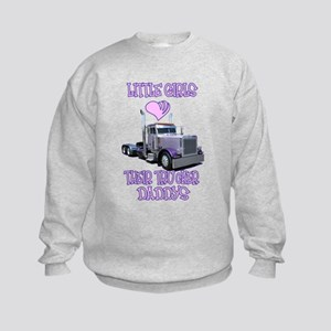 Little Girls Love Their Trucker Daddys Kids Sweats