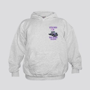 Little Girls Love Their Trucker Daddys Kids Hoodie