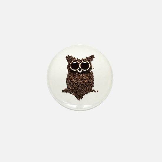 Coffee Owl Mini Button