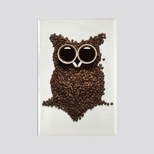 Coffee Owl Rectangle Magnet