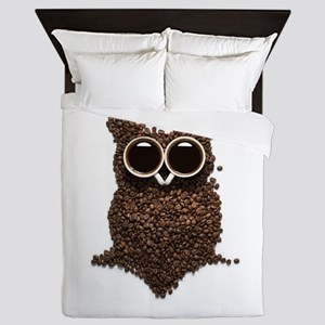 Coffee Owl Queen Duvet