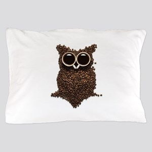 Coffee Owl Pillow Case