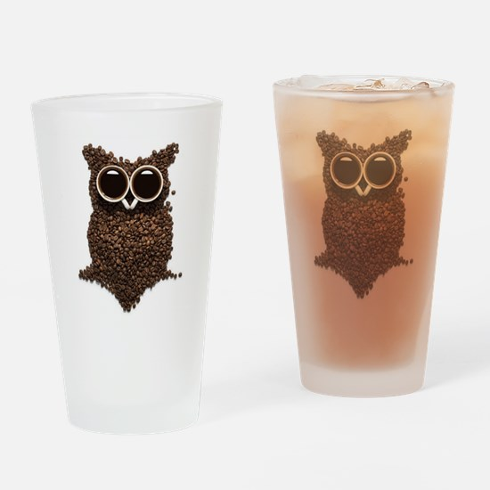 Coffee Owl Drinking Glass