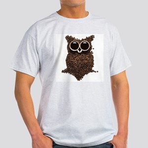 Coffee Owl Light T-Shirt