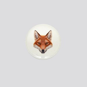 Red Fox Face Mini Button