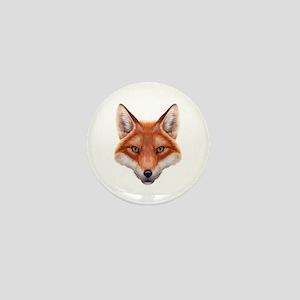 Red Fox Face Mini Button