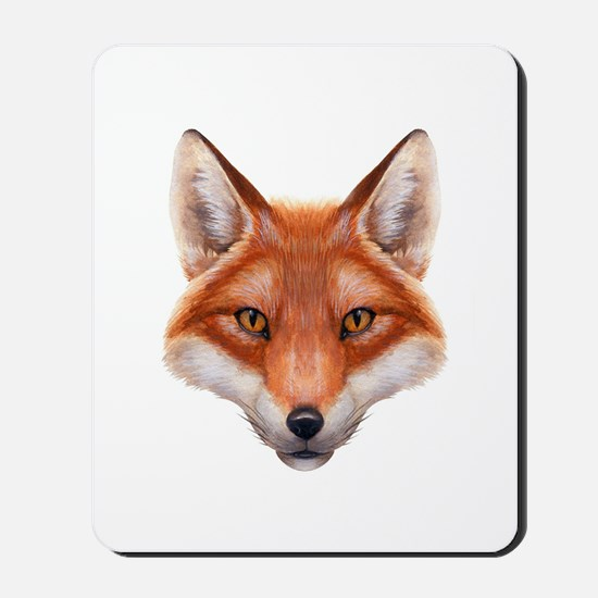 Red Fox Face Mousepad