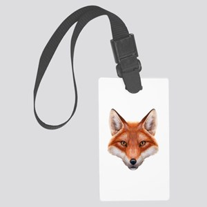 Red Fox Face Large Luggage Tag