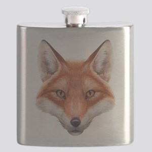 Red Fox Face Flask