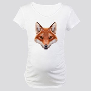 Red Fox Face Maternity T-Shirt