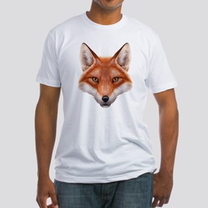 Red Fox Face Fitted T-Shirt