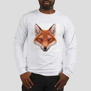 Red Fox Face Long Sleeve T-Shirt
