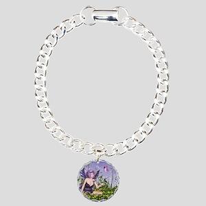 Purple Spring Fairy Charm Bracelet, One Charm