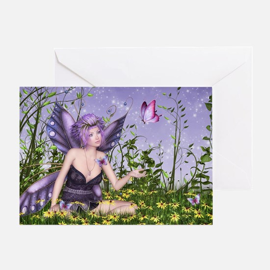 Purple Spring Fairy Greeting Card