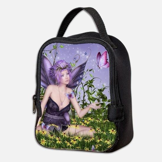 Purple Spring Fairy Neoprene Lunch Bag
