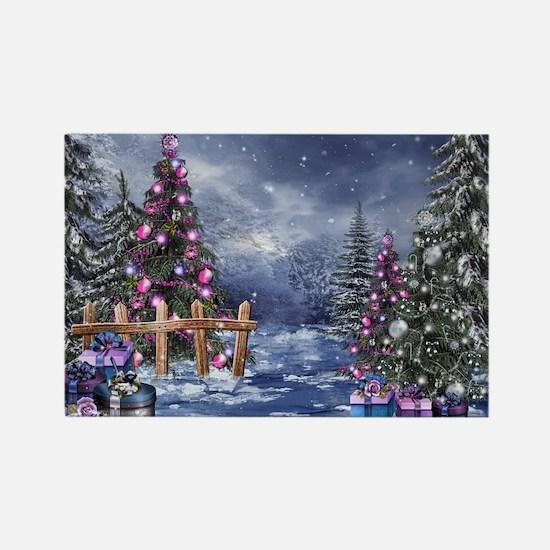 Christmas Landscape Rectangle Magnet