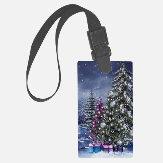 Christmas Landscape Luggage Tag