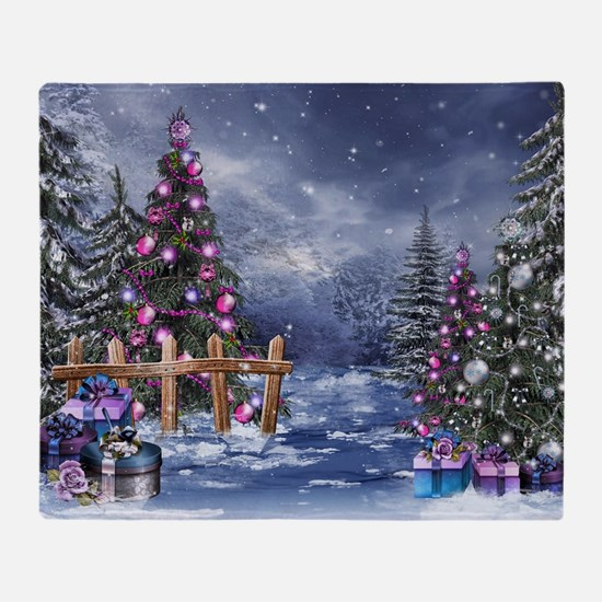 Christmas Landscape Throw Blanket