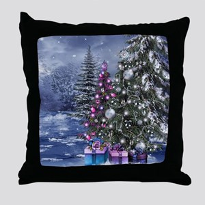 Christmas Landscape Throw Pillow