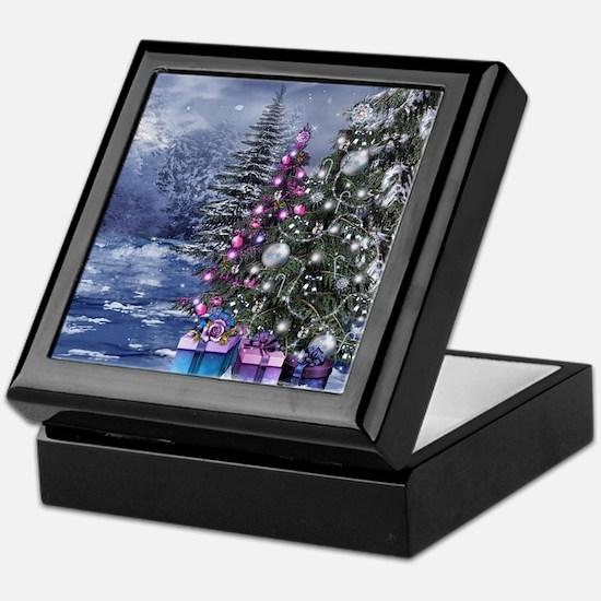 Christmas Landscape Keepsake Box
