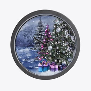 Christmas Landscape Wall Clock