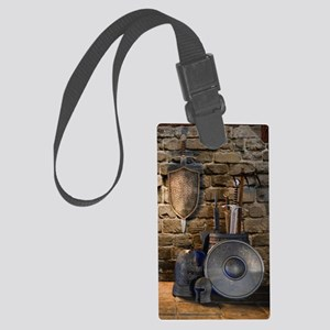 Medieval Weaponry Large Luggage Tag