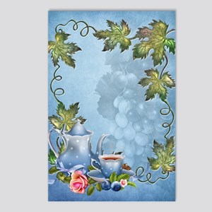 Blue Tea Party Postcards (Package of 8)