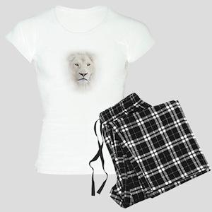 White Lion Head Women's Light Pajamas