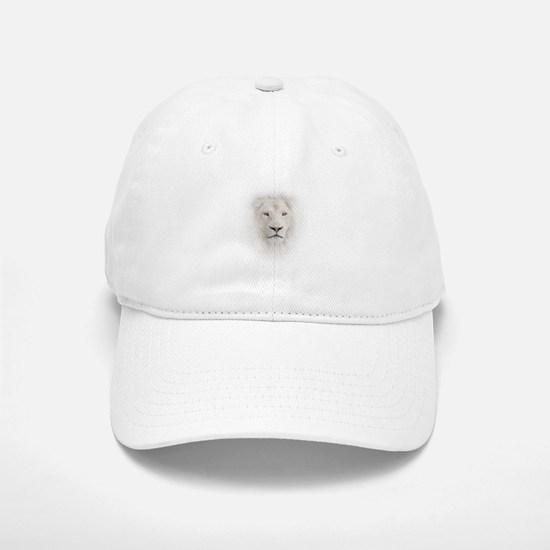 White Lion Head Baseball Baseball Cap
