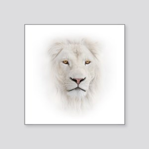 "White Lion Head Square Sticker 3"" x 3"""