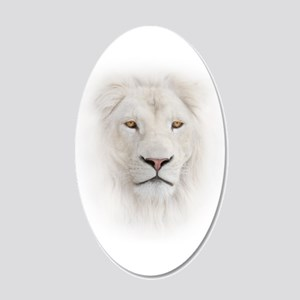 White Lion Head 20x12 Oval Wall Decal