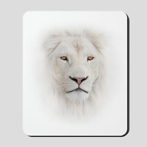 White Lion Head Mousepad