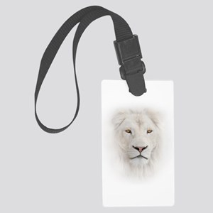 White Lion Head Large Luggage Tag