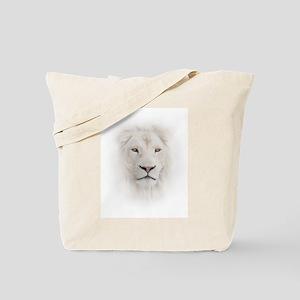 White Lion Head Tote Bag