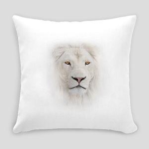 White Lion Head Everyday Pillow