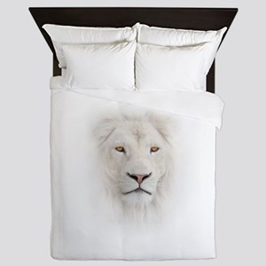 White Lion Head Queen Duvet
