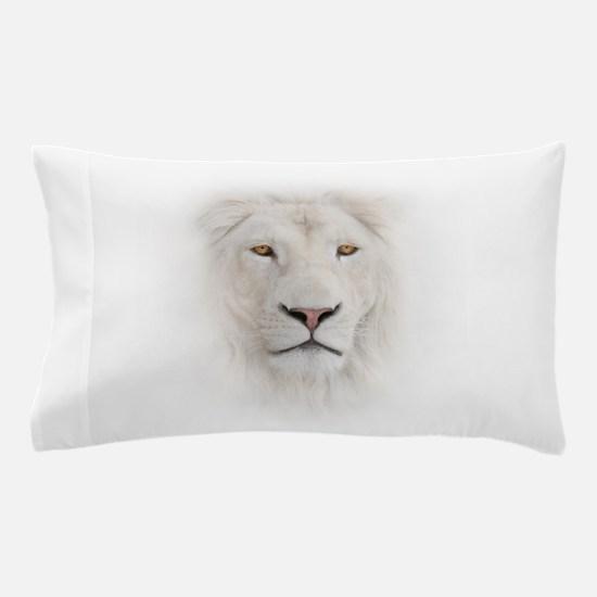 White Lion Head Pillow Case