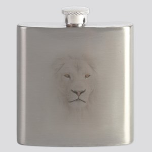 White Lion Head Flask