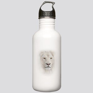 White Lion Head Stainless Water Bottle 1.0L