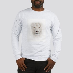 White Lion Head Long Sleeve T-Shirt