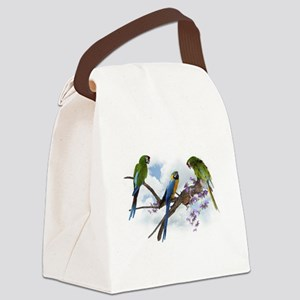 Macaw Parrots Canvas Lunch Bag