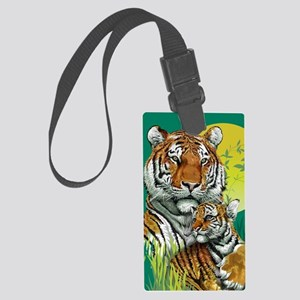 Tiger and Cub Large Luggage Tag