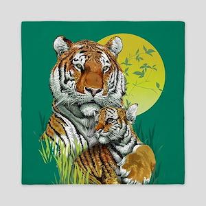 Tiger and Cub Queen Duvet