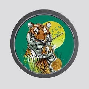 Tiger and Cub Wall Clock