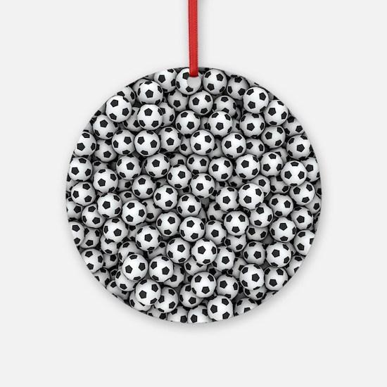 Soccer Balls Round Ornament