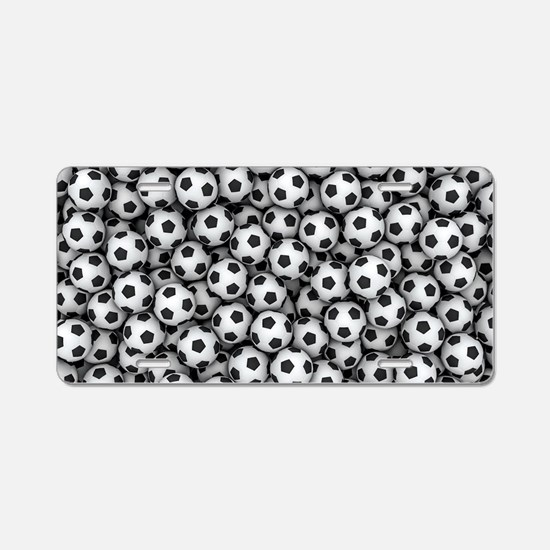 Soccer Balls Aluminum License Plate